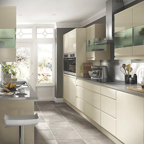 B&q Kitchens Bosch Kitchen Machine Cooke Lewis High Gloss Cream Ranges Rooms Diy At B Q