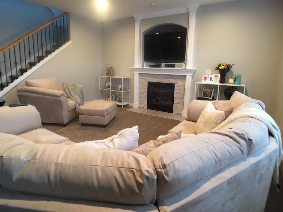 Best After Our Newly Remodeled Living Room With A Limestone 400 x 300
