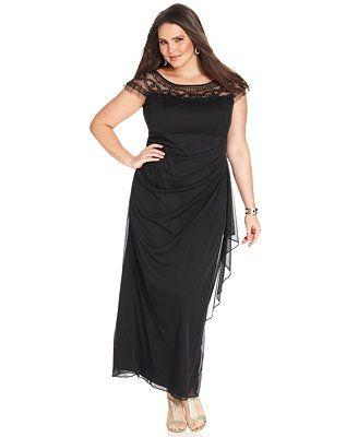r&m richards plus size illusion beaded gown | r & m richards gowns