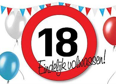 Beroemd Verjaardagskaart 18 jaar | wenskaarten - Happy birthday, Birthday @WV69