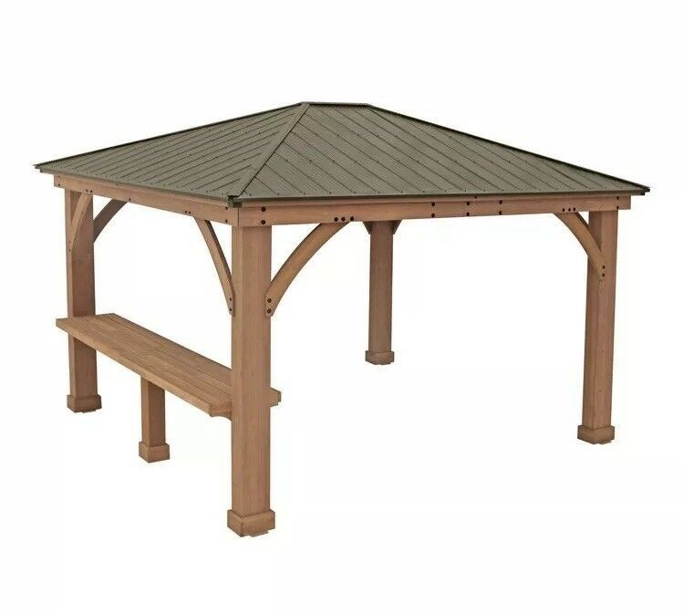 Yardistry 12 Wood Gazebo Bar Counter Only No Gazebo New Ships From Factory Ebay Gazebo Modern Gazebo Aluminum Roof