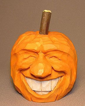 Ginning Pumpkin Carving Wood Carving Halloween Wood Crafts