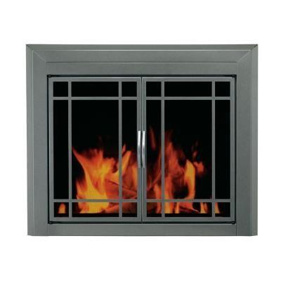 Pleasant Hearth Edinburg Medium Glass Fireplace Doors Fireplace Glass Doors Fireplace Doors Fireplace Accessories