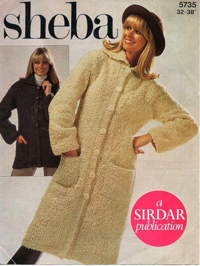 Womens Coats Knitting Pattern Pdf Chunky Boucle Ladies Jackets