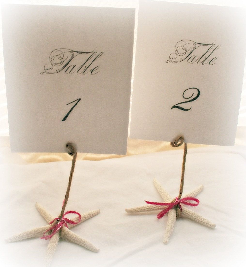 very make-able! Set of 25 Beach Themed Wedding Table Number Holders ...