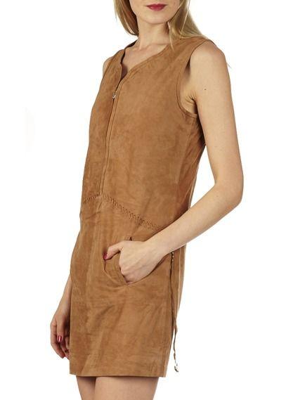 Robe cuir de chevre