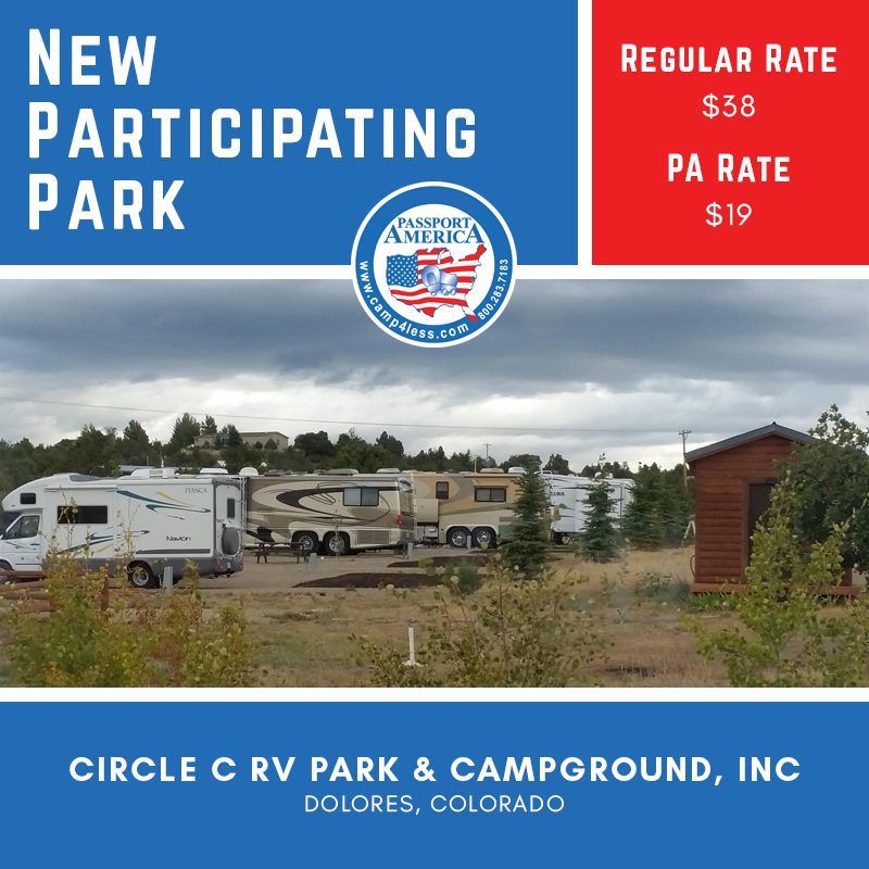 Visit Circle C Rv Park Campground In Dolores Co And Enjoy Spacious Campsites With Spectacular Views Of The Mesa Verde And Ute Mount Rv Parks Campground Park