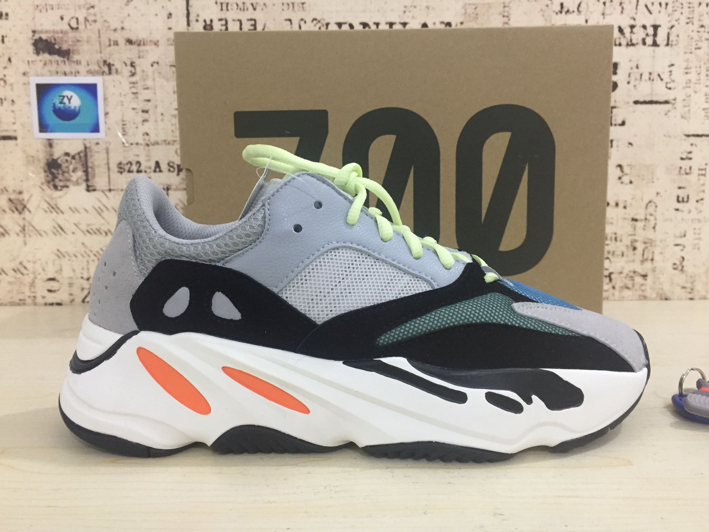 5383d388f Fashion Adidas Yeezy Wave Runner 700 Solid Grey Chalk White Core Black Shoe