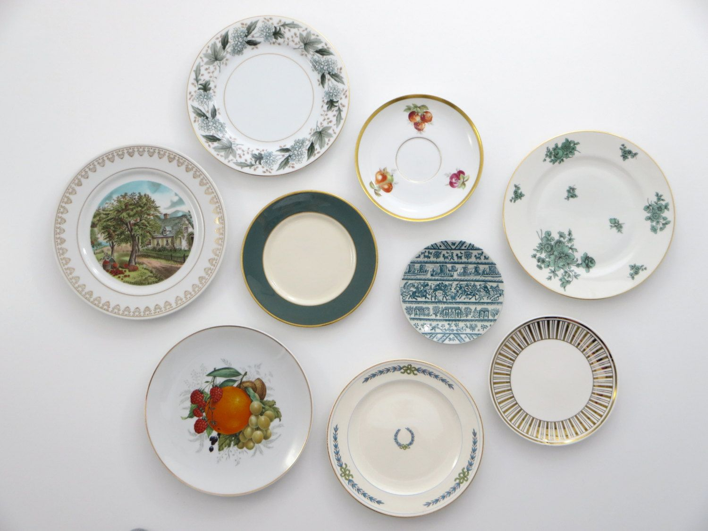 Decorative Plates Kitchen Wall Decor Shabby Chic Farmhouse Rustic ...
