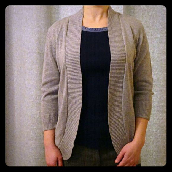 Open Front Cardigan NWT Open Front Cardigan in Gray Color, 60% cotton, 40% acrylic Covington Tops Sweatshirts & Hoodies