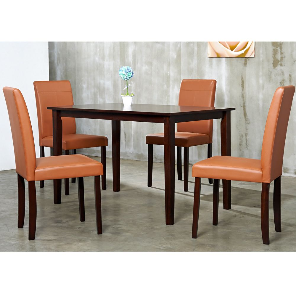 Warehouse Of Tiffany 5 Piece Toffee Dining Furniture Set By Warehouse Of  Tiffany