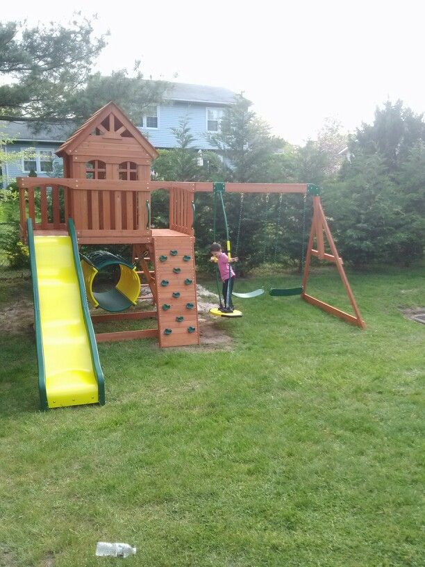 Backyard Discovery Cedar View Playset From Bj S Wholesale Installed