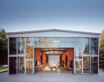 low cost warehouse steel building glass shop design