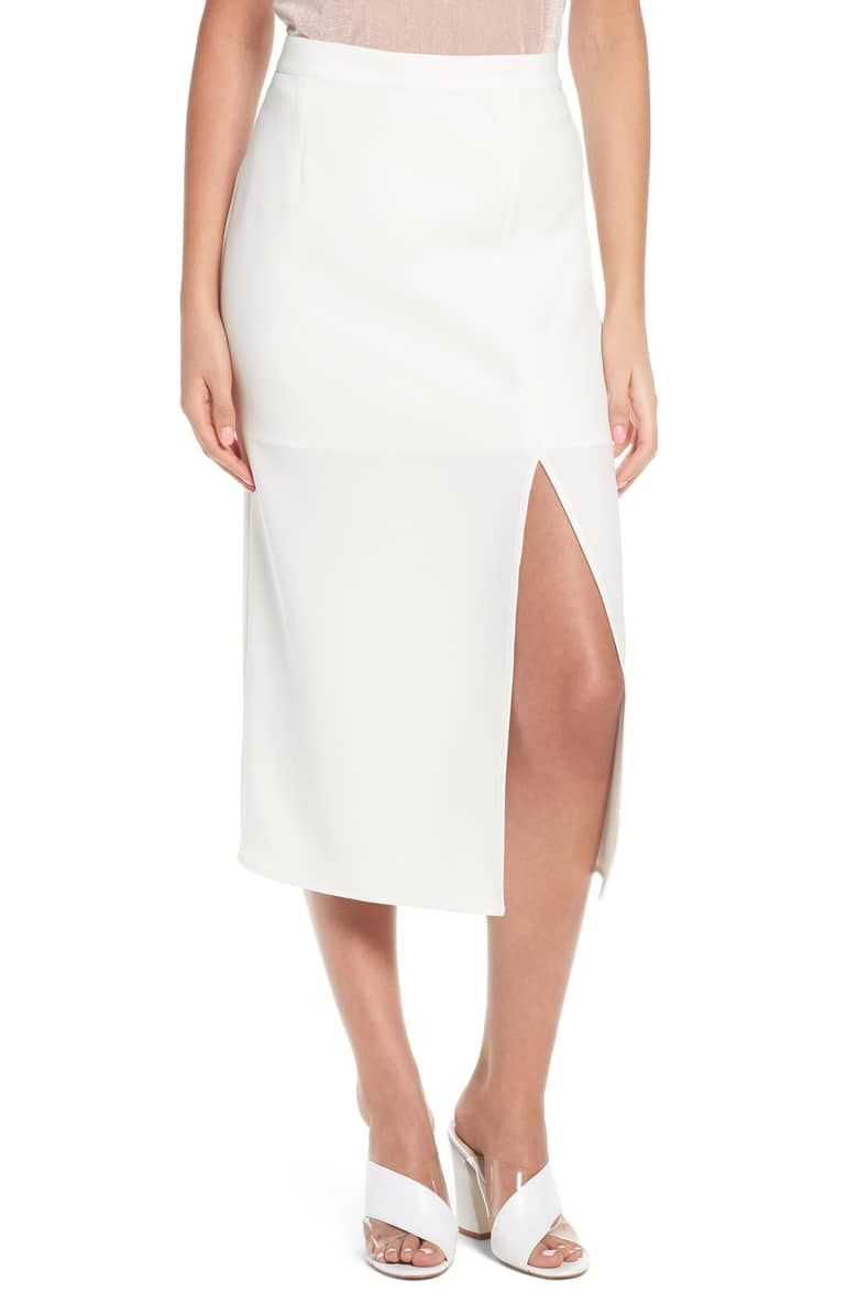 1b31a06ef9 Brady Satin Midi Skirt, Main, color, IVORY Satin Midi Skirt, Waist Skirt