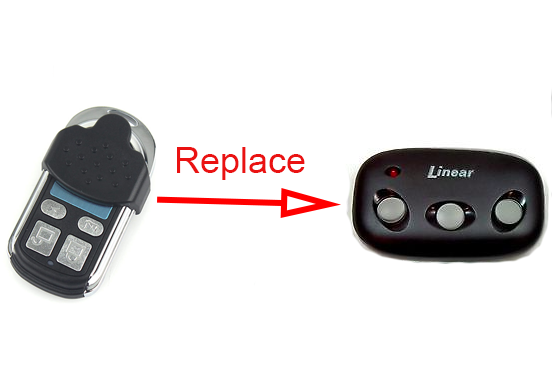 Linear Mega Code 3 Button Garage Door Replacement Remote 318mhz Free