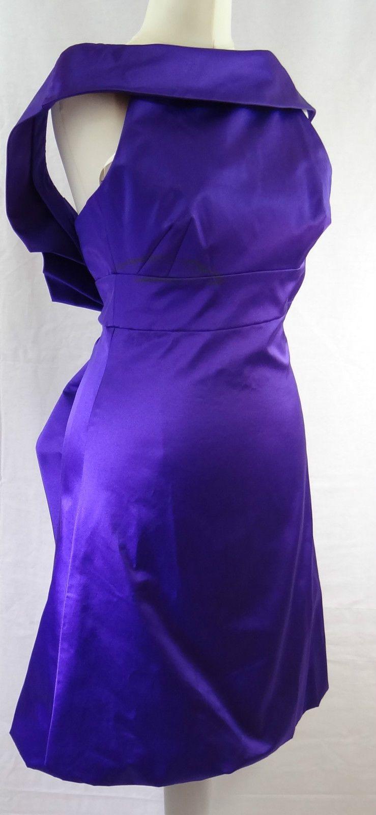 Karen Millen purple satin dress size 6 | eBay | para coser ...