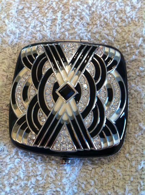 mirror vintage black Estee lauder