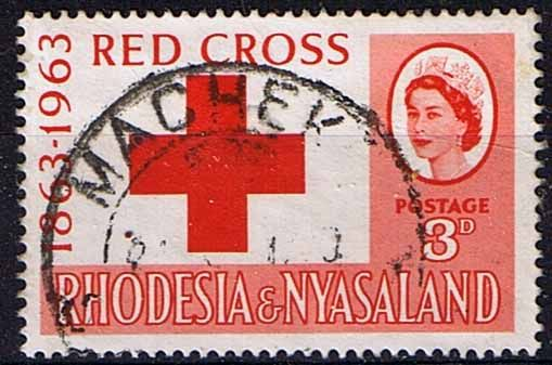 Rhodesia and Nyasaland 1963 Red Cross Centenary Fine Used  SG 47 Scott 188 Other Africa Stamp Here