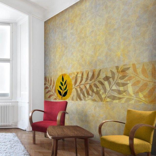 Vliestapete - Asia Muster - Fototapete Fototapeten Pinterest - moderne tapeten wohnzimmer