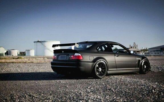 Bmw E46 M3 Matte Black Bmw Bmw M3 Bmw Sports Car Cars