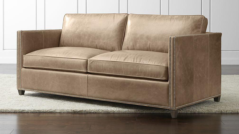 Marvelous Barrett Leather Full Sleeper Crate And Barrel Full Creativecarmelina Interior Chair Design Creativecarmelinacom