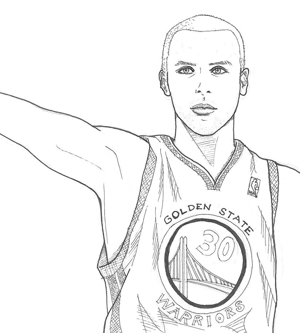 Stephen Curry By Smallwaterfish On DeviantArt Coloring Pages To Print