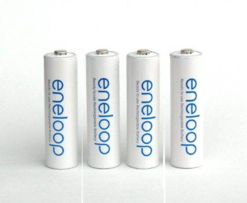 Sanyo Eneloop 4 Pack Aa Ni Mh Pre Charged Rechargeable Can Be Charged Up To 1500 Time Batteries With Aa 4 Cell Ba Sanyo Battery Holder Rechargeable Batteries