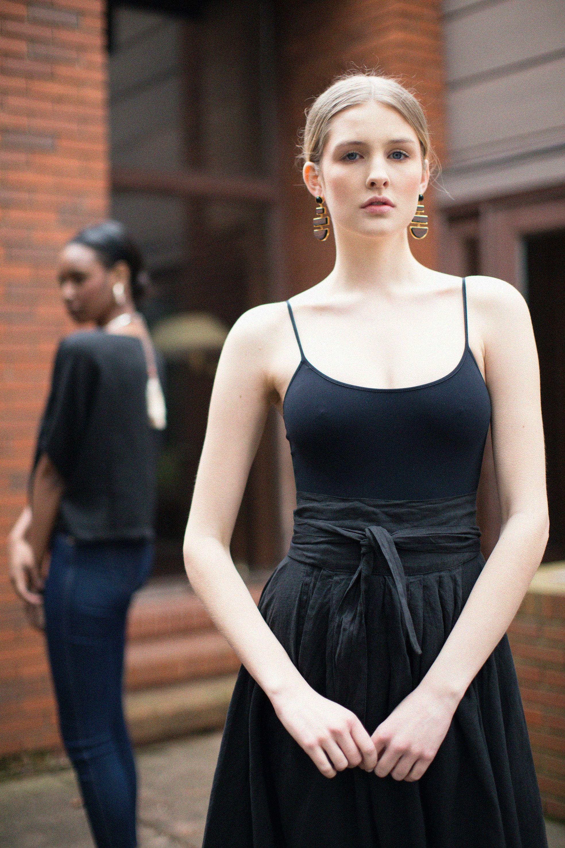 Rust lace bodysuit  Alix Black Elizabeth Bodysuit Black Crane Black Wrap Skirt