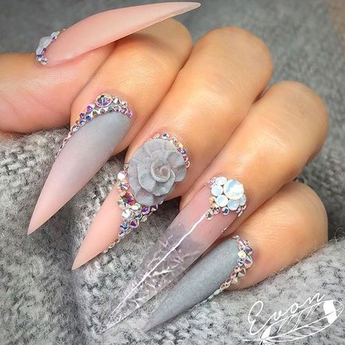 50 Of The Best Spring Nail Art For 2020 In 2020 Long Stiletto