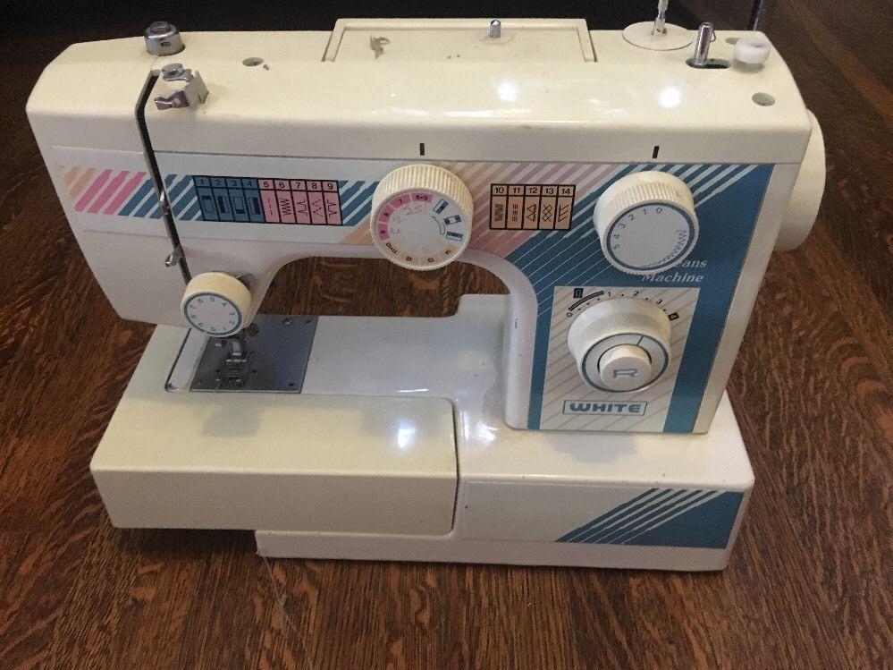 WHITE Sewing Machine Co Jeans Machine RETRO RARE PASTEL Model 40 Delectable Jeans Machine White Sewing Machine