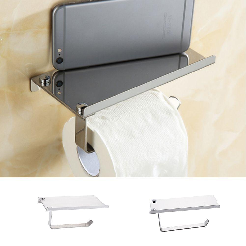 Stainless Steel Tissue Paper Holder Rack Toilet Roll Tissue Boxes ...