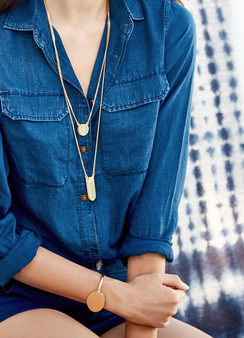 Bold Gold Jewelry for the win this summer.