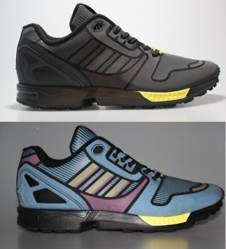 on sale 9cce0 13798 NEW-MENS-ADIDAS-ORIGINALS-ZX-FLUX-XENO-SHOES-BLACK-YELLOW ...