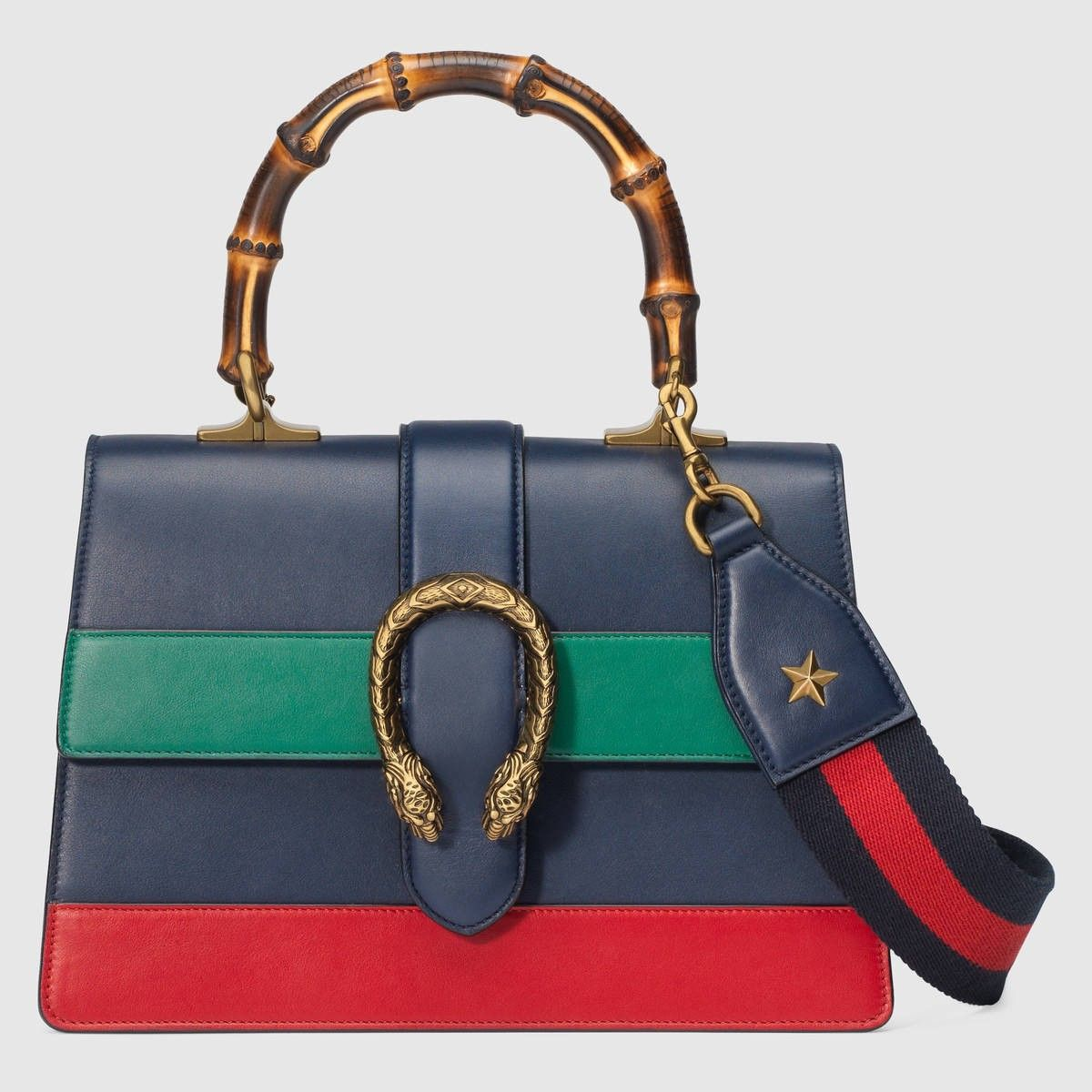 c7ecb20b3af72 GUCCI Dionysus Leather Top Handle Bag - Blue Green Red Leather.  gucci  bags   leather  lining  shoulder bags  linen  hand bags  cotton