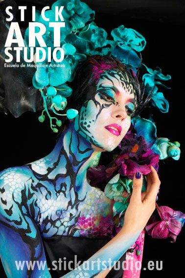 Pin By Escuela De Maquillaje Stick Ar On Maquillaje De Fantasia Body Art Painting Body Painting Fantasy Makeup