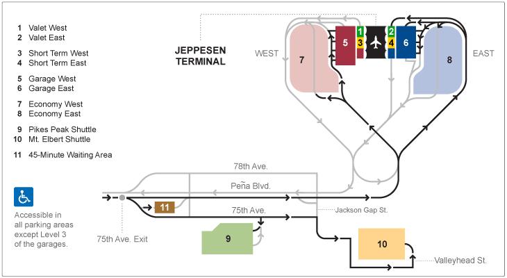 Parking Options At Denver International Airport Denver International Airport Airport Pikes Peak