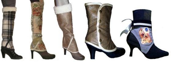 b5096258be6d2c Leder Stiefel Stiefeletten oder High Heels mit Stulpen tragen