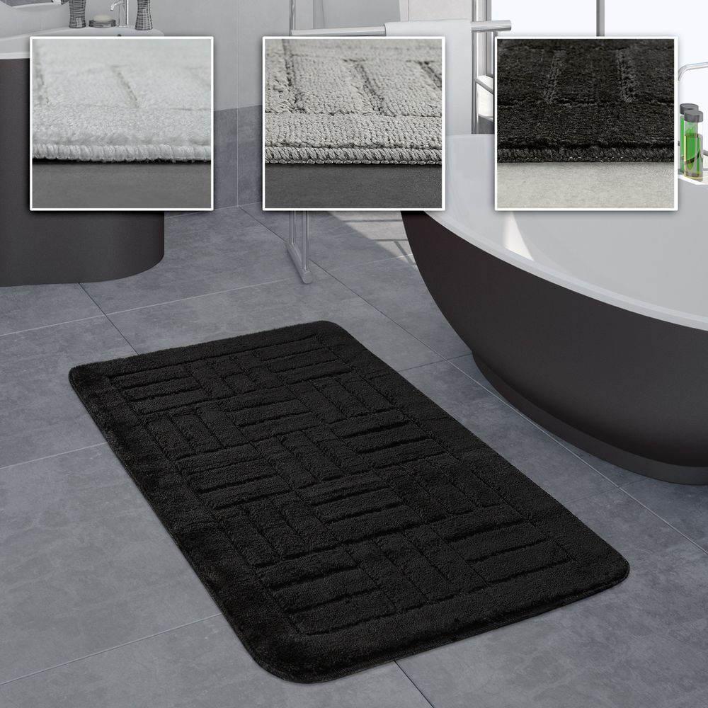 Badezimmer Teppich Kariertes Muster Beige Badezimmerteppich Teppich Gunstig Teppich