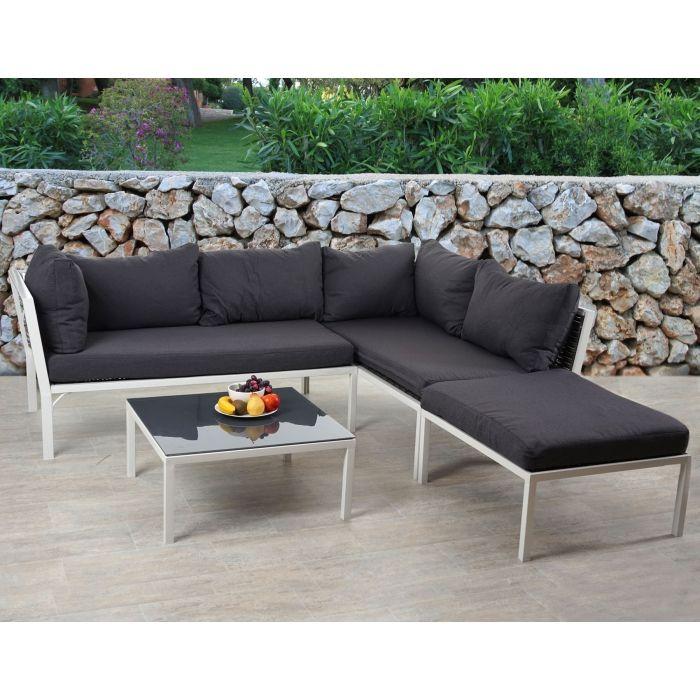 Großartig Poly-Rattan Sofa-Garnitur Delphi, Sitzgruppe Lounge-Set, Alu ~ Set  SV51
