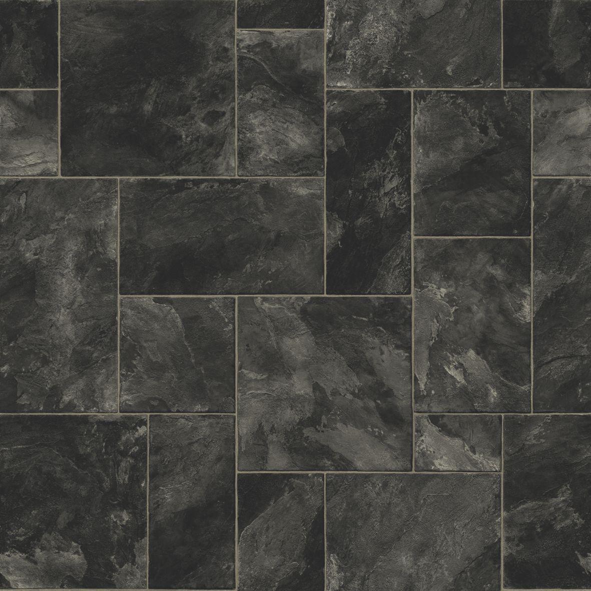 Colours Octavina Black Slate Effect Vinyl 6m 178 Sheet