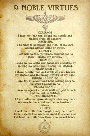 '9 Noble Virtues' by FantasySkyArt