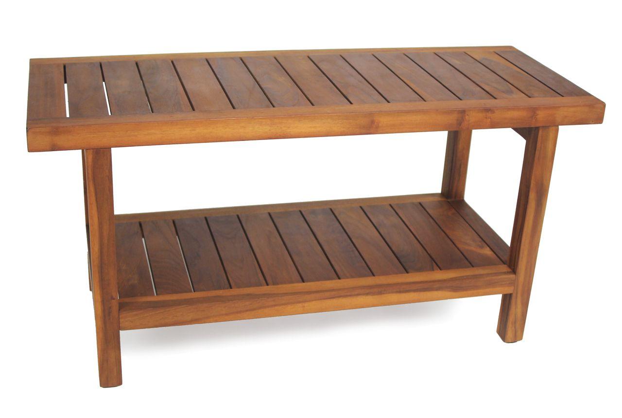 The Original 36 Spa Teak Shower Bench With Shelf Teak Shower Bench Teak Shower Shower Bench