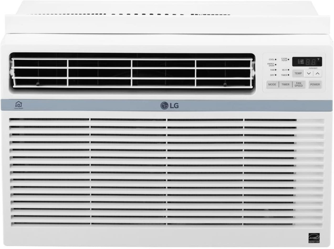 With 8 000 Btu This Smart Wi Fi Controllable Energy Star Air Conditioner Will Save You En Window Air Conditioner Quiet Window Air Conditioner Air Conditioner
