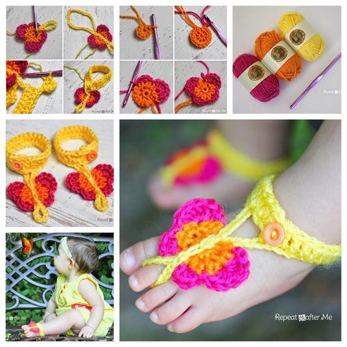 4 ideas para tejer botines y sandalias a crochet para bebe