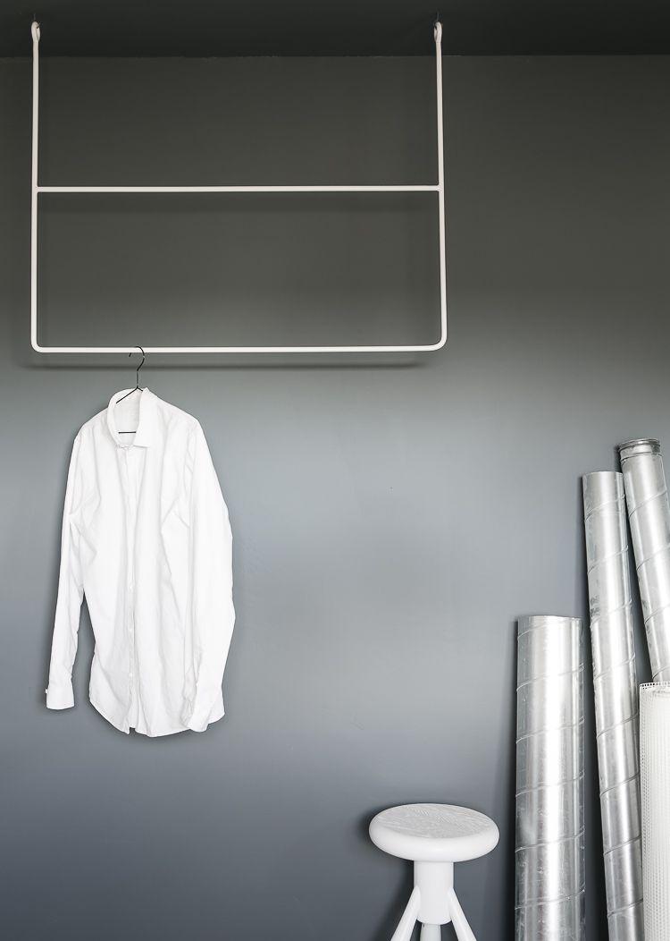 clothing rail, cos, grey