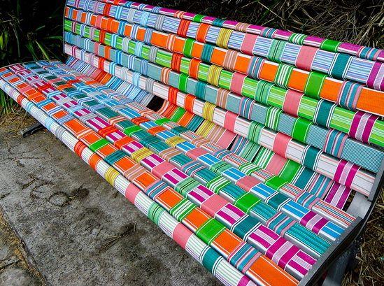 Woven Park Bench