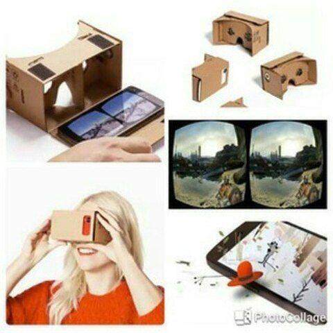 """CARDBOARD VIRTUAL REALITY FOR SMARTPHONE  Dengan main-feature nya yaitu sebagai alat Virtual Reality Cardboard dapat merubah pandangan kita dan menipu otak kita seakan-akan kita berada diruangan atau tempat lain dengan penglihatan 3D. Sangat cocok untuk kamu yang hobi nntn film   Google Cardboard didukung oleh aplikasi yang dibuat oleh banyak orang dan terus bertambah. bisa di download appnya di play store search """"cardboard vr"""" Maksimal 5.5""""  SALE CUMA JADI 65rb (harga normal 150rb)  Order…"""