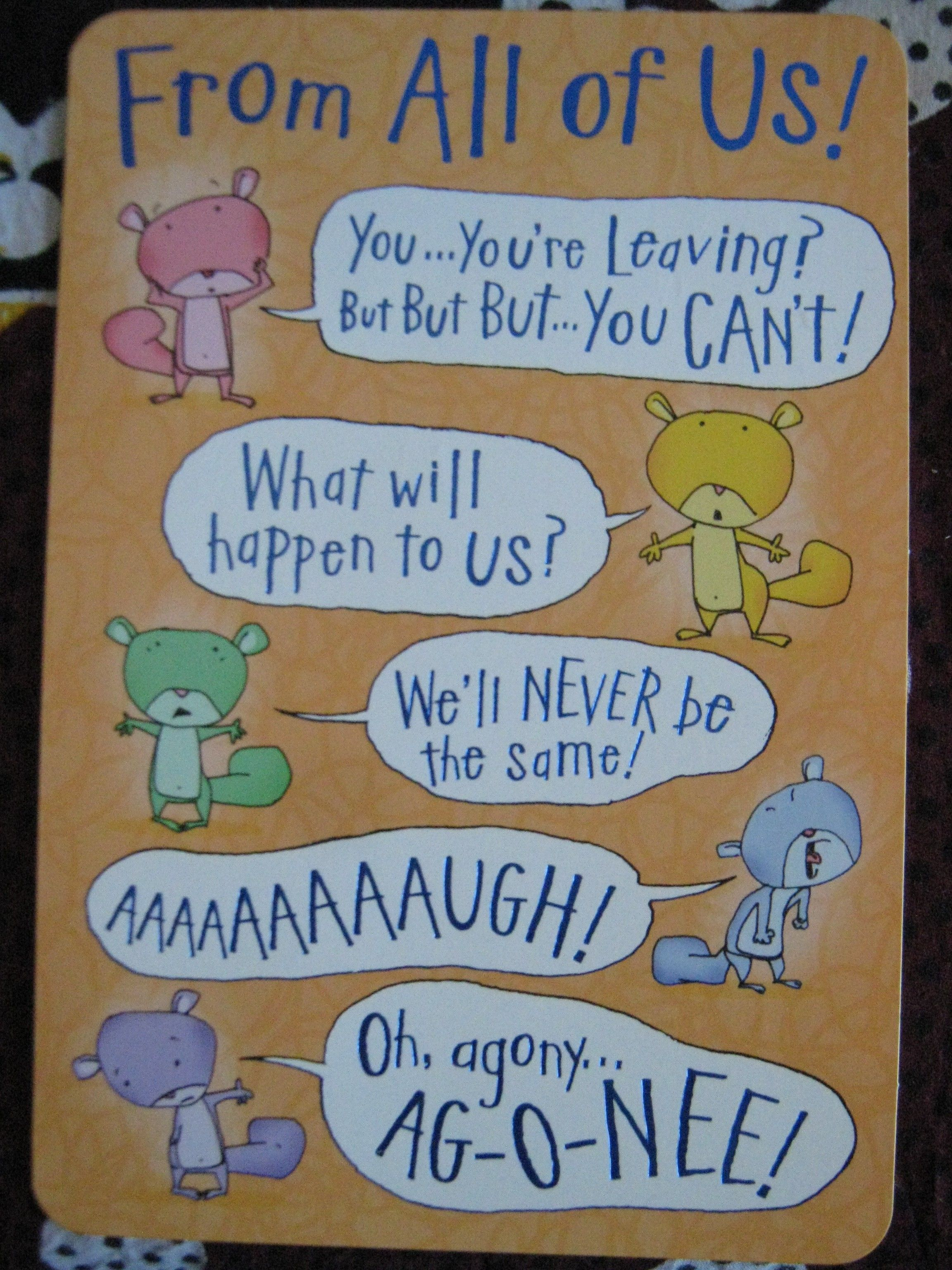 Pin by Becky Ziaja on :: cards :: | Goodbye gifts for ...