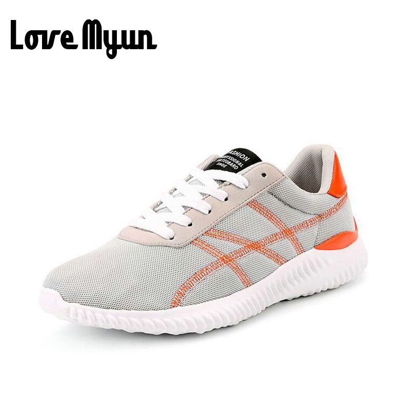 Women Casual Mesh Breathable Sports Shoes Thick Cushion Air Lace Up Sneakers