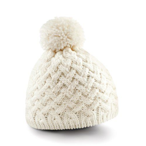 ec7597b77dd Beechfield Vermont Ladies Womens Winter Beanie Hat (One Size) (Off White)